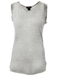Avant Toi Side Trim Detail Sleeveless Tank Grey