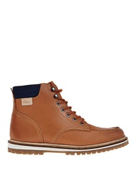 Lacoste Montbard Faux Fur Lined Leather Boots Tan