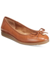 Giani Bernini Odeysa Memory Foam Ballet Flats Only At Macy's Women's Shoes Nut