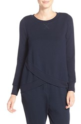 Midnight By Carole Hochman Women's Terrycloth Wrap Hem Top Midnight