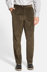 Men's Big And Tall Linea Naturale Weathered Corduroy Pants Olive
