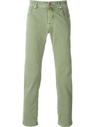 Jacob Cohen Slim Fit Trousers Green