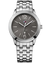 Tommy Hilfiger Men's Table Silver Tone Bracelet Watch 42Mm 1791283