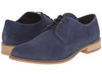 Dune Bambino Navy Suede Men's Lace Up Casual Shoes Blue