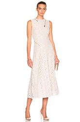 Stella Mccartney Rose Lace Dress In White