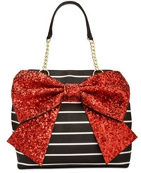 Betsey Johnson Bow Tote Red