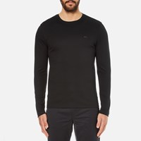 Michael Kors Men's Long Sleeve Sleek Mk Crew Top Black