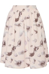 Karl Lagerfeld Melina Printed Cotton Blend Skirt Pink