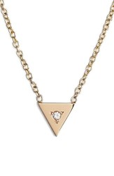 Zoe Chicco Women's Zo Chicco Diamond Triangle Pendant Necklace