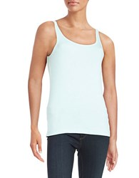 Lord And Taylor Petite Ribbed Cotton Tank Aries