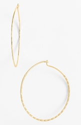 Nordstrom 'Whisper' Hammered Hoop Earrings Gold