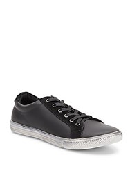 Joe's Jeans Leather And Suede Sneakers Black