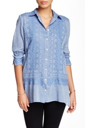 3J Workshop Embroidered Blouse Blue