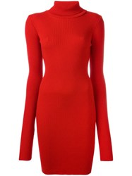 Jacquemus Knitted Dress Red
