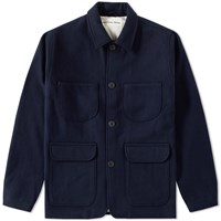 Universal Works Melton Wool Labour Jacket Blue