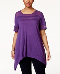 American Rag Plus Size Illusion T Shirt Only At Macy's Crown Jewel