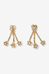 Nasty Gal Star Pave Jacket Earrings