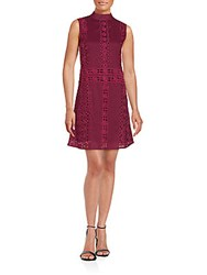 Kas Sleeveless Solid Dress Wine