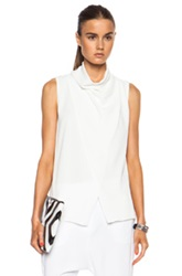 Camilla And Marc Blackbird Poly Top In White