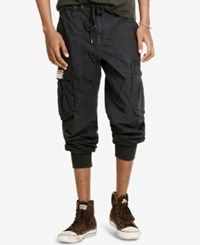 Denim And Supply Ralph Lauren Men's Cargo Jogger Pants Black