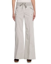 Xcvi Phia Wide Leg Stretch Poplin Pants Graystone