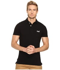 Superdry Classic Pique Short Sleeve Polo Black Men's Short Sleeve Knit