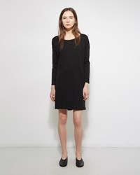 Organic By John Patrick Boatneck Tee Dress Black