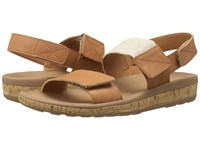 Rockport Weekend Casuals Keona 2 Band Gore Rich Tan Smooth Women's Sandals Beige