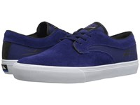 Lakai Riley Hawk Indigo Suede Men's Skate Shoes Blue