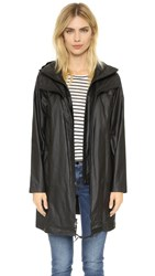 Pure Dkny Hooded Coat Black