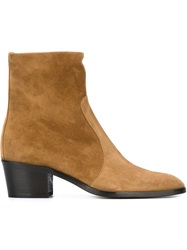 Jean Michel Cazabat Pointed Toe Ankle Boots Nude And Neutrals