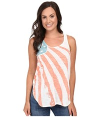 Roper 0427 Poly Slub Jersey Racerback Tank Top White Women's Sleeveless