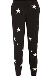 Chinti And Parker Star Intarsia Cashmere Track Pants Black