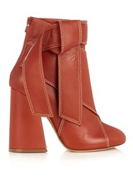 Ellery Susanna Leather Ankle Boots Tan