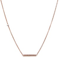 Dutch Basics Cylinder Fine Chain Necklace Rose Gold