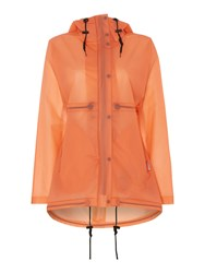 Hunter Matte Vinyl Hooded Smock Coat Orange