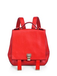 Proenza Schouler Ps Small Backpack Red Navy Black