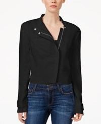 Rachel Rachel Roy Long Sleeve Front Zip Moto Jacket Black