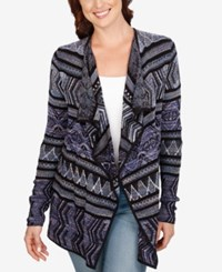 Lucky Brand Lotus Open Front Cardigan Multi