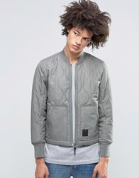 Cheap Monday Trouble Quilt Bomber Grey Elephant Grey