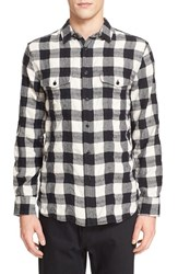 Rag And Bone Men's 'Jack' Plaid Check Shirt Black White