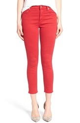 Citizens Of Humanity Women's 'Rocket' Ankle Skinny Jeans Really Red