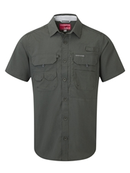 Craghoppers Angler Plain Classic Fit Short Sleeve Shirt Green
