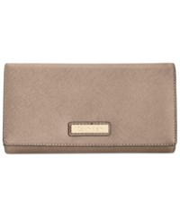 Calvin Klein Saffiano Leather Wallet Dark Taupe
