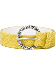 Orciani Snakeskin Effect Belt Yellow And Orange