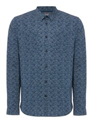 Linea Men's Greene Dot Floral Print Shirt Petrol