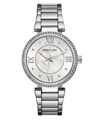 Kenneth Cole Classic Mother Of Pearl Dial Analog Watch Silver