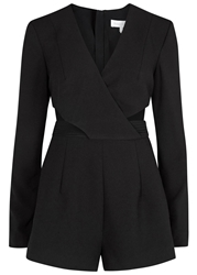 Finders Keepers Moonlight Black Cut Out Playsuit