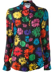 Moschino Floral Blouse Black