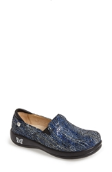 Alegria 'Keli' Embossed Clog Blue Crackle